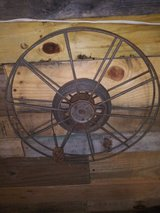 Very old cable reel in Houston, Texas