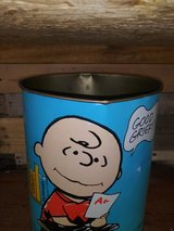 Charlie Brown / Snoopy trash can in Spring, Texas