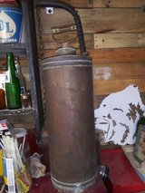 Antique oil can in Spring, Texas