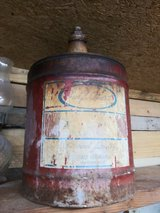 Old Gulf Coast Lubricants 5 gal container in Spring, Texas