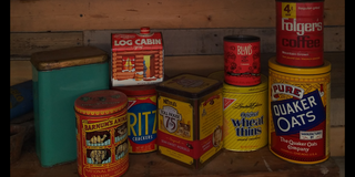 Vintage containers in Kingwood, Texas