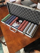 Poker chip set, 500, with case in Okinawa, Japan