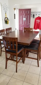 Pub Dining Rm Extension Table/w 6 chairs in Fort Knox, Kentucky