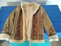 St Johns Bay Women's Embroidered Suede Jacket - Pre-owned in Alamogordo, New Mexico