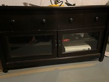 Black wood TV Stand OBO in Naperville, Illinois