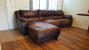 Brown leather reclining couches in Dyess AFB, Texas