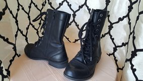 black lace-up boot in Dyess AFB, Texas