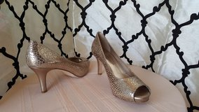 Antonio Melani gold heels in Dyess AFB, Texas