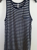 SPLASH navy/white stripe sleeveless shirt in Dyess AFB, Texas