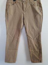 Faded Glory ultimate skinny jeans /tan in Dyess AFB, Texas