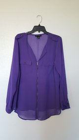 long sleeve blouse/ purple see through in Dyess AFB, Texas