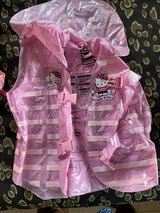 Hello Kitty inflatable life jacket for kids in Okinawa, Japan