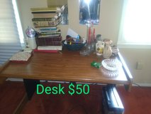 Heavy Wood Desk in Camp Lejeune, North Carolina