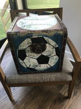 Sports Theme end table/ storage cube in Plainfield, Illinois