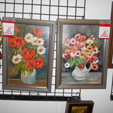 2 Pretty Floral Hand-Paintings       Article number: 040162 in Ramstein, Germany
