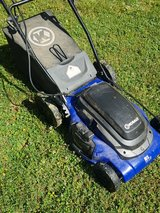 Kobalt electric mower in Fort Leonard Wood, Missouri