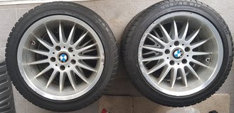 """Set of 4 17"""" BMW Wheels for Mounting Winter Tires in Wiesbaden, GE"""