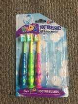 3 NEW Kids' Toothbrushes with Soft Nylon Bristles with Suction Bottoms in Glendale Heights, Illinois