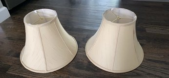2 Beige Lampshades in Kankakee, Illinois