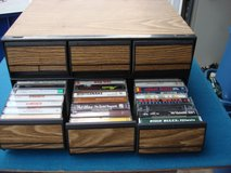 TWO PLASTIC CASES FULL OF CASSETTE  TAPES in Naperville, Illinois