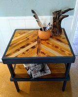 Handcrafted Chevron Side Table in Spring, Texas