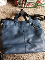 Coach Leather Briefcase-Navy Blue in Naperville, Illinois