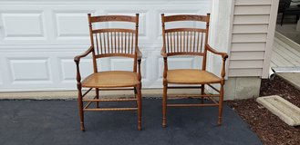 Pair of wooden chairs in Sandwich, Illinois