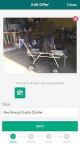 Peg Perego Duette (Double) Stroller in Schaumburg, Illinois