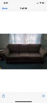 sofa, chair & ottoman with pillows in Plainfield, Illinois