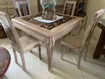 New white wash Dining table set in Okinawa, Japan