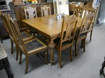oak Table with 12 chairs in Ramstein, Germany