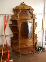 beautiful glass cabinet and many carved in Ramstein, Germany