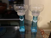Blue candle holders in Fort Benning, Georgia
