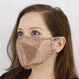 New Rose Gold Sequin Face Masks - 5 Available in Bolingbrook, Illinois