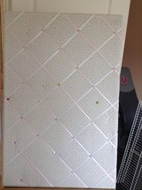 Vintage cloth-weaved padded peg board in Ramstein, Germany