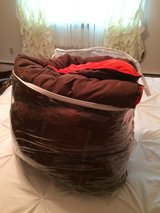 QUEEN SIZE REVERSABLE COMFORTER - BROWN/ORANGE - CLEAN in Sandwich, Illinois