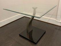 Glass End Table with Chrome/Black Frame in Fort Belvoir, Virginia