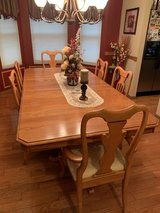 Solid oak Formal dining room set in Plainfield, Illinois
