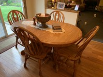Solid oak kitchenette table set in Plainfield, Illinois