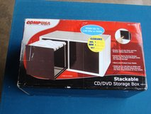 NEW COMP USA STACKABLE CD/DVD STORAGE BOX in Chicago, Illinois