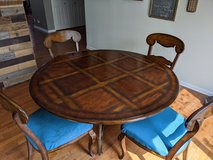 Tom's Price 60 inch solid wood table. W 6 chairs in Naperville, Illinois