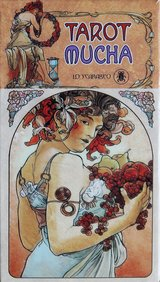 Italian tarot deck, tribute to Alfons Mucha in Okinawa, Japan