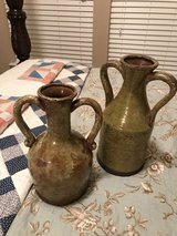 Pair of pottery vases in Conroe, Texas