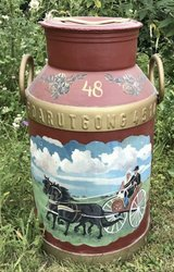 old farmers milk can in Ramstein, Germany