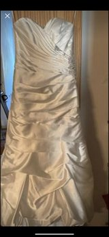 size 4 David's Bridal wedding dress. cleaned, but not pressed in Naperville, Illinois