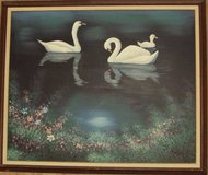 Painting on Canvas - Swans in Alamogordo, New Mexico