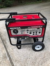 Honda EM5000SX Generator, 25 ft. Transfer Switch Cable, very good shape in Kingwood, Texas