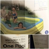 Intex inflatable pool 90x90x22 in Naperville, Illinois