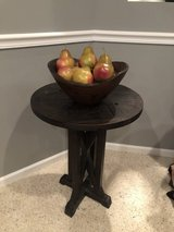 Rustic wood table and decor in Naperville, Illinois