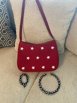 July 4th Red & White Purse & Necklace, Bracelet in Kingwood, Texas